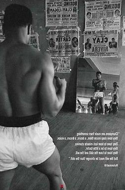ALI-GYM 24x36 POSTER BOXING BOXER FIGHTING GLOVES LEGEND BES