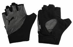 Puma Ambition Gym Fitness Unisex Fingerless Gloves Black 041