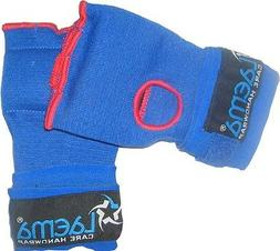 BLUE BOXING GLOVE QUICK HAND WRAPS- MMA UFC GYM BAG WORK - R