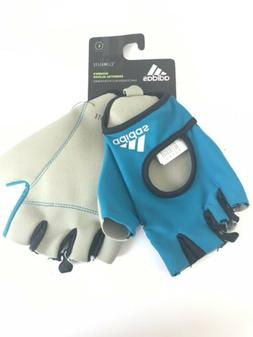 Blue Adidas Women's Essential Training CrossFit Gym Gloves