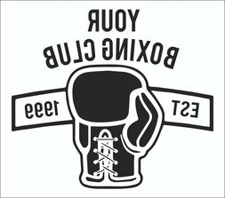 boxing gloves personalised wall art gym wall