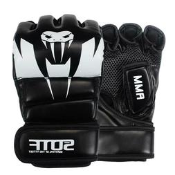 boxing gloves pu leather mma muay thai