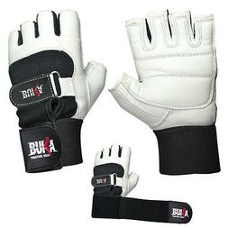 BUKA WEIGHT LIFTING GYM GLOVES BODY BUILDING WORKOUT COWHIDE