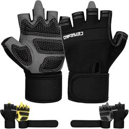 Cevapro Workout Gloves Men Women, Full Palm Protection Weigh