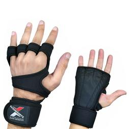 Cross Training Gloves Wrist Support Padded Palm with Extra l