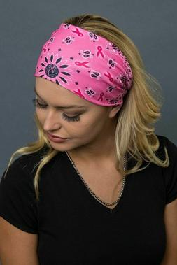 Hair Glove EZ Neck Tube Scarf with /Roses Stretch Face Mask