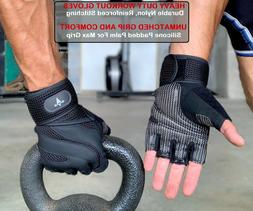Fitness Gloves Weight Lifting Gym Workout Training Wrist Wra