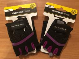 Gold's Gym Women's S/M or M/L Purple/Black Tacky Gloves - NW