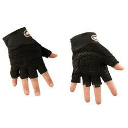 Gym Gloves Half Finger Training Fitness Wrist Wrap Workout E