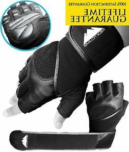 Gym Gloves, Workout Gloves - Real Wrist Support and Full Pal