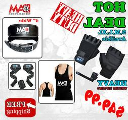 GYM WEIGHT LIFTING GLOVES BODY BUILDING BELT LIFTING STRAP G