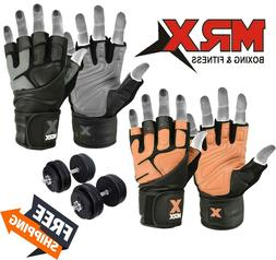 MRX Weightlifting Gloves Gym Workout Weight Training Lifting