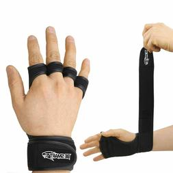 Hand Grip PAIR Weight Lifting Pads Workout Gloves Gym Fitnes