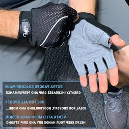 For Hand Grip Weightlifting Pads Workout Mesh Gloves Gym Fit