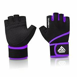 HTZPLOO Workout Gloves Gym Gloves Weight Lifting Gloves for
