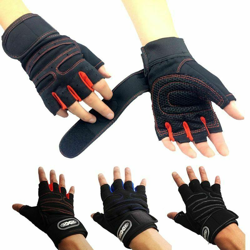 body building fitness gym gloves with belt