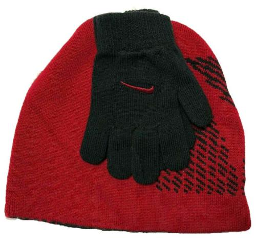 Nike Boys and Gloves Red,