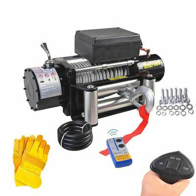 classic 12500lbs 12v electric recovery winch truck