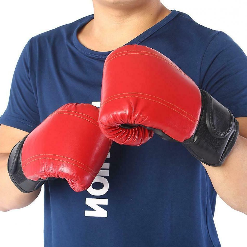 durable pu leather men boxing gloves gym
