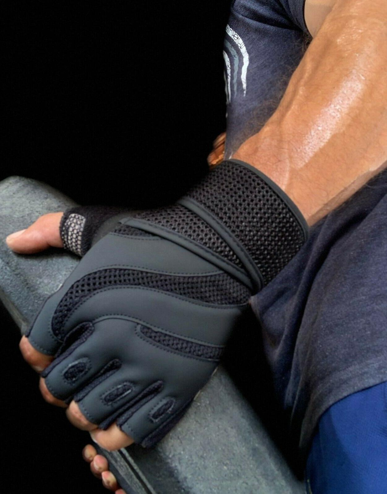 Weight Lifting Gloves Workout Gym Exercise Training Wrist St