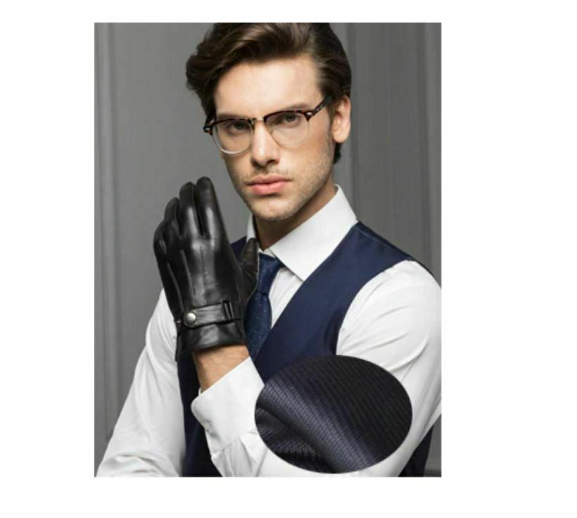 gloves for men male thin thick black