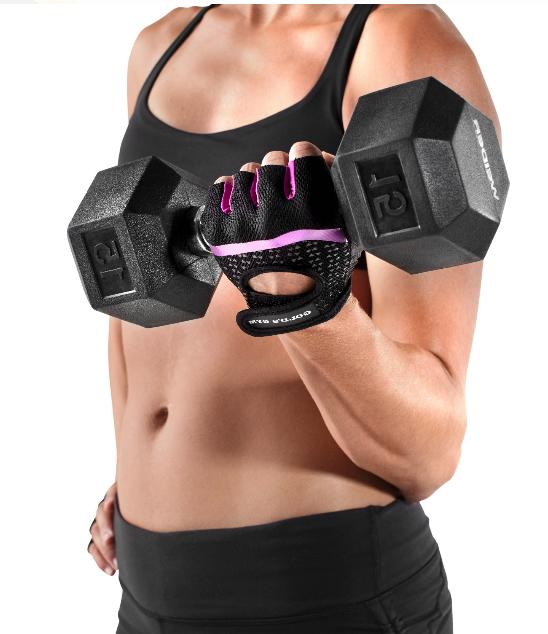 golds gym women tacky gloves with wrist