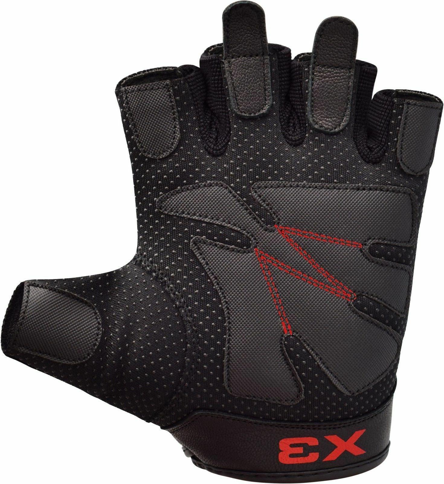 RDX Weight lifting Gloves Gym Fitness Training Bodybuilding Workout