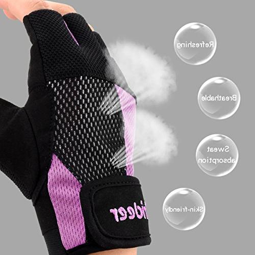 Trideer Weight Breathable & Gloves, Exercise Gym Gloves for Climbing, Boating, Dumbbells,