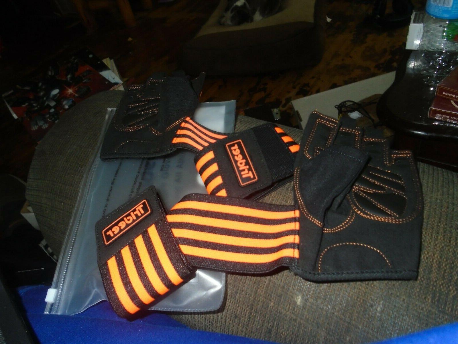 padded weight lifting gym workout gloves