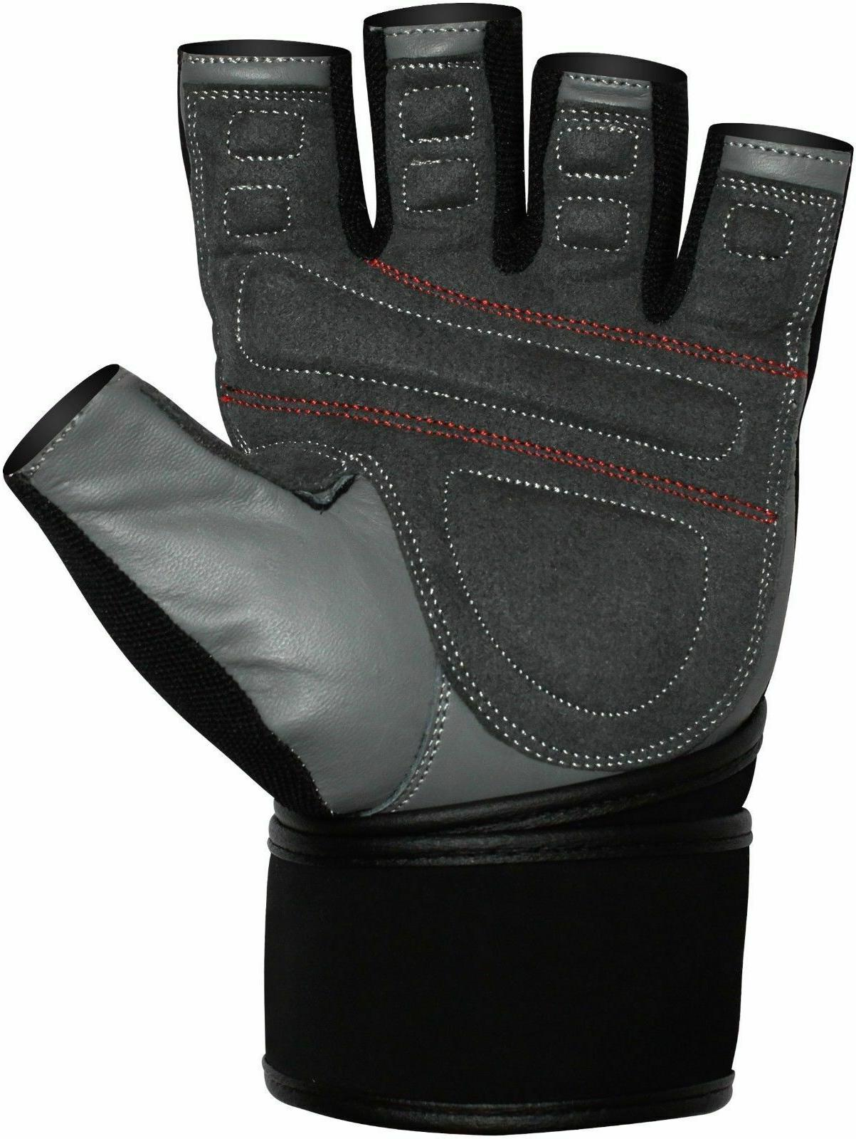 RDX Lifting Building Gloves Straps Leather New