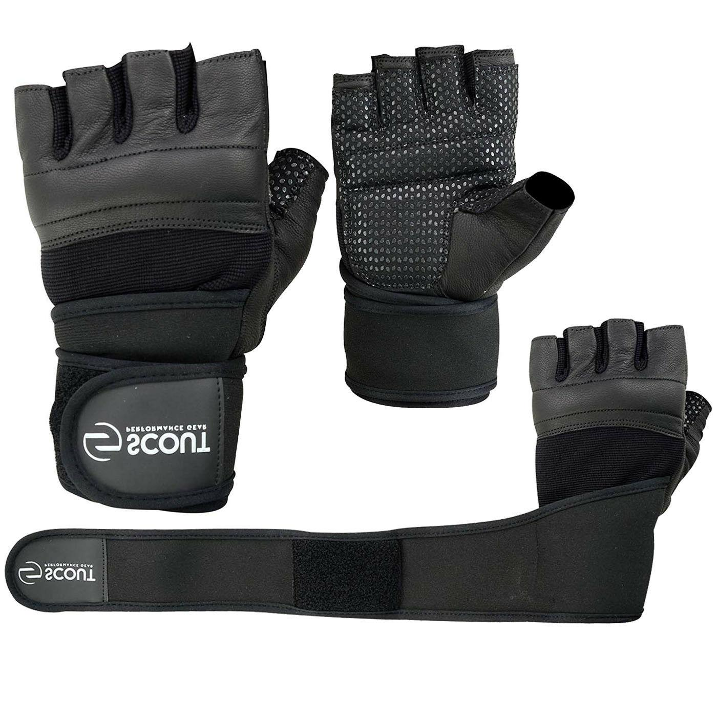 weight lifting gloves with long wrist wraps