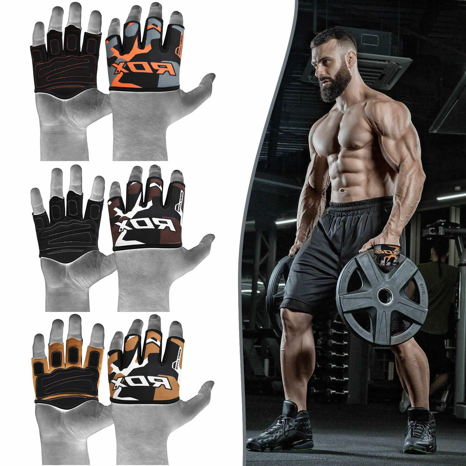 weight lifting grips half cut gym gloves