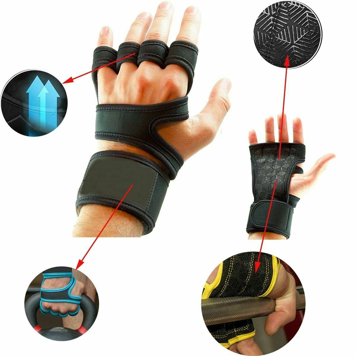 Weight Gym Gloves Full Palm Protection Fitness