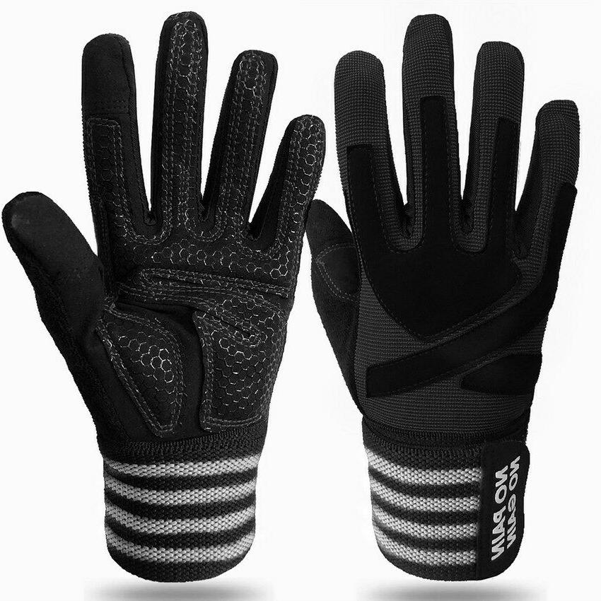 Full Finger Weight Lifting Gym Gloves Fitness Wrist Strap Lo