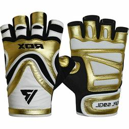 RDX L9 Gym Gloves, Weight Lifting/Wrist Support, Gold, Multi