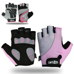 Ladies Gel Gloves Fitness Gym Wear Weight Lifting Workout Tr