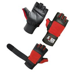 LEATHER GYM GLOVES FITNESS WEIGHT LIFTING TRAINING BODYBUILD