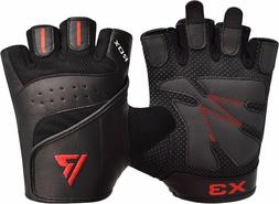 leather gym weight lifting gloves workout fitness