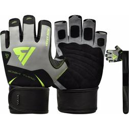 RDX Weight lifting Gloves Fitness Training Gym Workout Bodyb