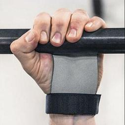 Hand Grip Leather Gym Guard Palm Protectors Pull Up Bar Weig