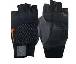 Nike Men's Lock Down Training Gloves Black/Orange Outdoor Gy