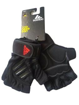 Adidas mens Half Finger Performance Weight Lifting gloves Gy