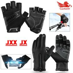 Motorcycle Black Cycling Gloves Leater Touch Screen XL Sport