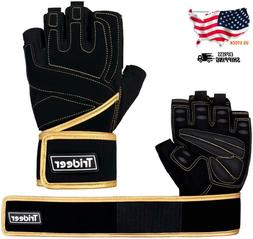 Trideer Padded Weight Lifting Gloves, Gym Gloves, Workout Gl