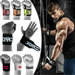 RDX Padded Wrist Wraps Weight Lifting Training Gym Straps Su