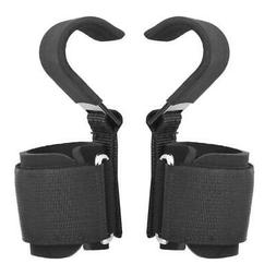 Power Weight Lifting Training Gym Strap Hook Bar Pull Up Wri