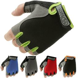 Sports Fingerless Gloves - Motorcycle Weight Lifting Gym Tra