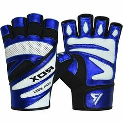 RDX S10 Gym Gloves, Weight Lifting/Wrist Support, Blue, Mult