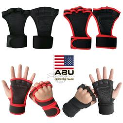 US Fitness Gloves Weight Lifting Gym Workout Training Wrist