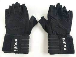 ihuan Ventilated Weight Lifting Gym Workout Gloves with Wris